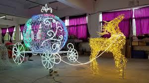 2017 christmas outdoor building decoration lights reindeer sleigh