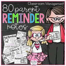 parent reminder notes by teacher to the core teachers pay teachers