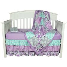 Baby Crib Bed Sets The Peanut Shell Baby Crib Bedding Set Purple Floral Design