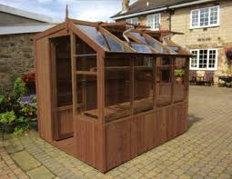 Garden Shed Greenhouse Plans Wooden Potting Shed Plant Flower Vegetables Growing House