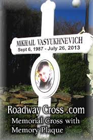 roadside memorial crosses roadside memorial cross with memory plaque made of high quality