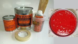 amazon com scarlet red acrylic enamel single stage restoration