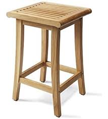 Grade A Teak Patio Furniture amazon com grade a teak wood outdoor patio garden backless bar