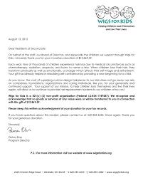 hair fair 2012 thank you letter from wigs for kids hair fair