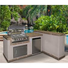 Backyard Grill Ideas by Cal Flame 2 Piece Bbq Island And Side Bar With 32 Inch Cal Flame