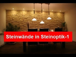 steinwand wohnzimmer platten steinwand steinwände in steinoptik ideen