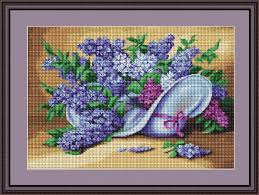 artgoblen counted cross stitch kit lilac spray challenging 18