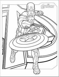 captain america coloring pages kids printable super heroes