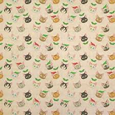 christmas gift wrapping supplies christmas cat faces kraft present gift wrap wrapping