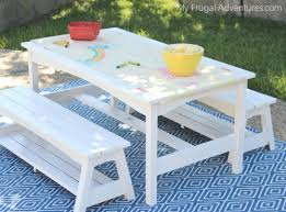 Ana White Picnic Table Incredible White Picnic Table With Benches Ana White Ashleys X