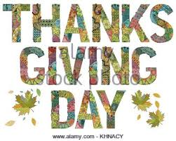 give thanks thanksgiving concept words in white chalk on a