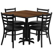 amazon com flash furniture 36 u0027 u0027 square black laminate table set