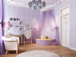 diy princess themed bedroom for adults with purple wall and
