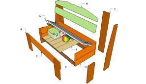 porch storage bench plans
