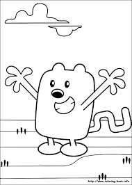 wow wubbzy coloring picture