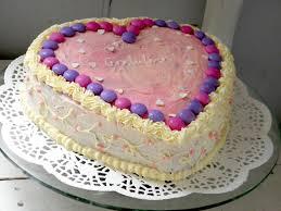 the sweet macaron baked with love chocolate heart birthday cake