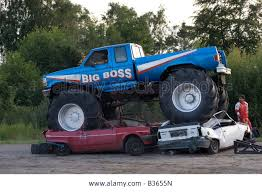 blue thunder monster truck videos image big boss monster truck crushing cars b3655n jpg monster