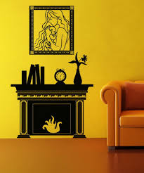 Yellow Fireplace by Amazon Com Vinyl Wall Decal Sticker Fireplace Os Dc147 Home