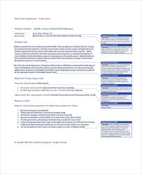 project charter template 10 free word pdf documents download