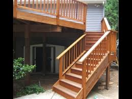 Outdoor Banister Deck Stair Railing How To How To Install Deck Stair Railing And