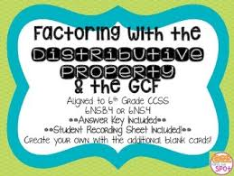 factoring with the distributive property u0026 the gcf ccss 6 ns 4