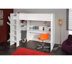 lit mezzanine 90x200 cm swan blanc lits superposés et mezzanines but