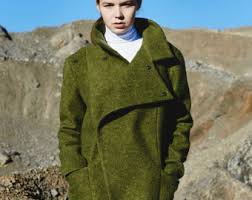 Womens Winter Coats Plus Size Long Wool Coat Etsy