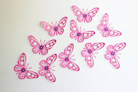 20 collection of pink butterfly wall wall ideas