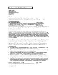 Sample Resume For Supply Chain Management by Samples Of Resume Objectives Free Resume Example And Writing