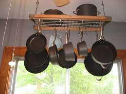 Hanging Bakers Rack Pot Rack Ideas To Complete The Kitchen Amazing Home Decor