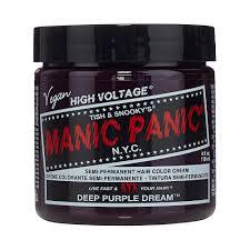 Deep Purple Color Manic Panic Deep Purple Dream High Voltage Classic Colour Hair Dye