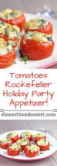 tomatoes rockefeller holiday party appetizer dinner then dessert