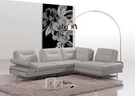 adjustable back sectional sofa modern taupe italian leather sectional sofa w adjustable backrests
