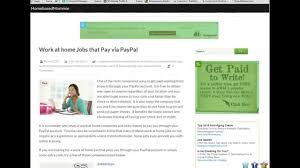 Companies With Work At Home Sites That Pay Via Paypal And Sign Up Tutorial Youtube