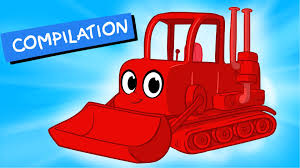 my red bulldozer 1 hour kids videos compilation incl digger
