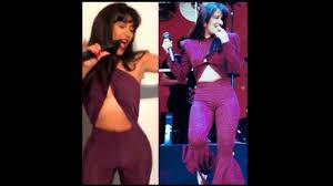 selena quintanilla purple jumpsuit costume dressed in a selena quintanilla costume for