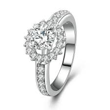 sunflower engagement ring simple sunflower pattern 925 sterling silver statement ring with