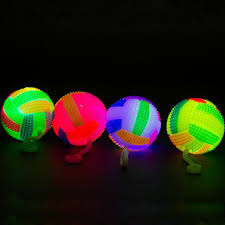 glow balls led bounce with string light up