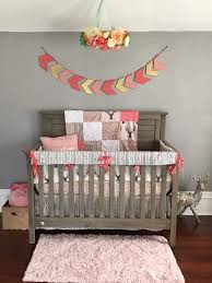 baby crib bedding tulip fawn meadow flowers pebble birch