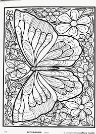 butterfly doodles butterfly and coloring