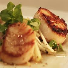 gastrique cuisine pan seared sea scallops with kohlrabi salad apple cider gastrique