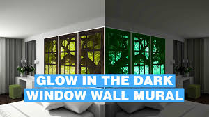 glow in dark wall mural fake window glowing wall mural youtube