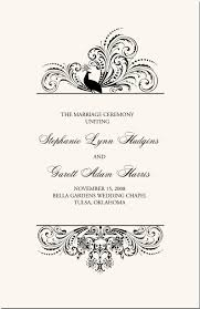 marriage ceremony quotes bird themed peacock wedding programs wedding ceremony programs