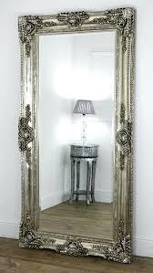 ella champagne silver ornate leaner vintage floor mirror 80 x 40 x