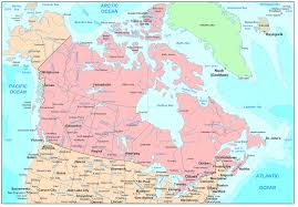 Political Map Of Canada Canada Map Blank Political Canada Map With Cities