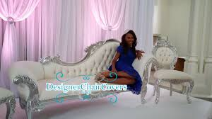 sofa weddings and engagements designer chair covers go
