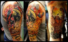 marvel x men superhero sleeve by phil webster integrity tattoo
