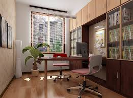 Office  Modern Minimalist Home Office Design With Wooden Desk - Contemporary home office designs