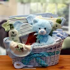 Baby Basket Gifts New Baby Gift Baskets Deluxe Organic New Baby Boy Gift Basket