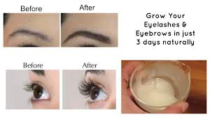 grow your eyelashes u0026 eyebrows in just 3 days eyelash and